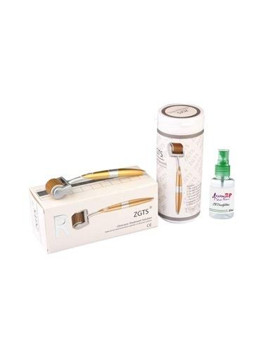 Zgts Dermaroller 0.75 mm Titanyum 192 İğneli Orijinal Gold Derma Roller Saç Yüz Vücut Renksiz